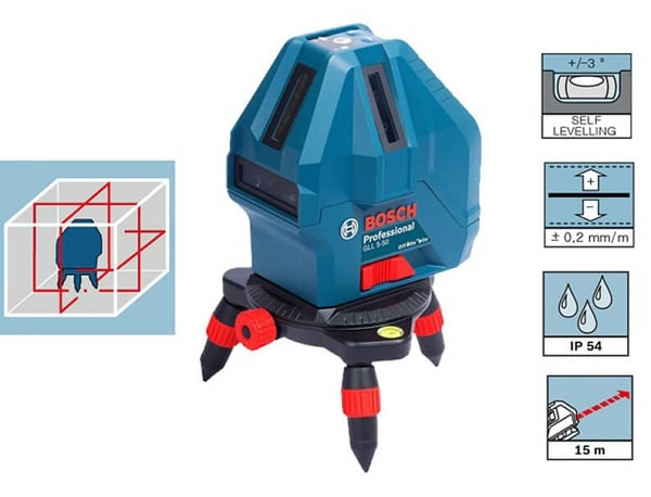 Video Review May Can Muc Laser Bosch Gll 5 50 X 209738